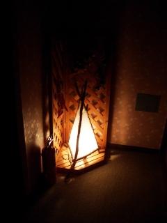 部屋のドアの前